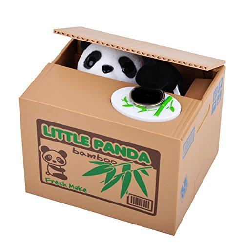 FunRun Elektronische Panda Spardose Automatische stehlen Münzen Coin Bank Money Saving Box Piggy Bank, Gelddose Kinder Spardose Münzen Euro Diebstahl Sparbüchse