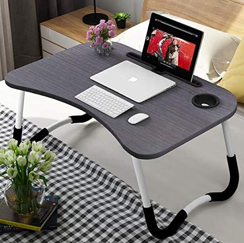 Json LED Laptop Mesa portátil Mesa Neetto Ajustable Mesa de Cama para Portátil (60 * 40 Negro + Ranura de la Taza)