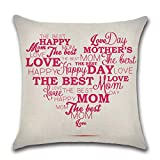JUSTDOLIFE JUSTDOLIFE Sofa Pillowcase Creative Throw Pillowcase Sofa Pillow Cover for Mothers Day