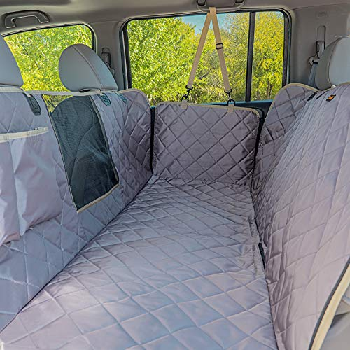 iBuddy Dog Car Seat Covers, Waterproof Dog Seat Cover for Back Seat with Mesh Window,Stain Resistant Dog Car Hammock, Nonslip Car Seat Covers for Dogs, Pet Car Seat Cover for Car/SUVs/Trucks