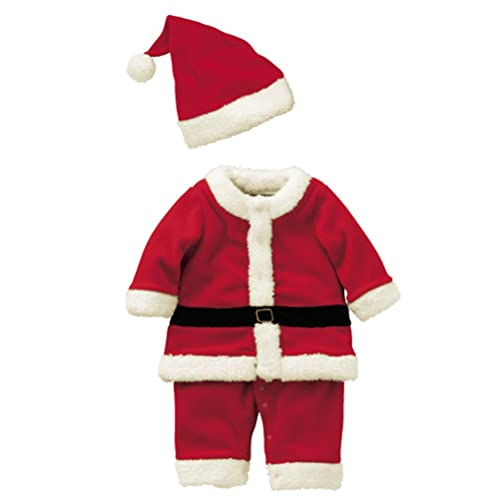 aaff66807 Abolai Baby Boys'Santa Romper Costume with Hat for Infant and Toddler  Christmas Costumes