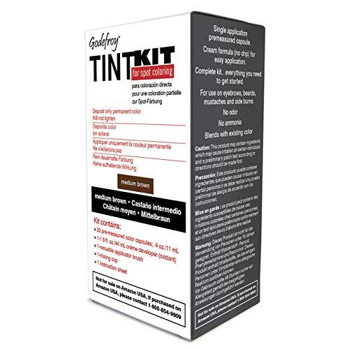 Godefroy - Kit tintura professionale per sopracciglia e barba, colore: Marrone