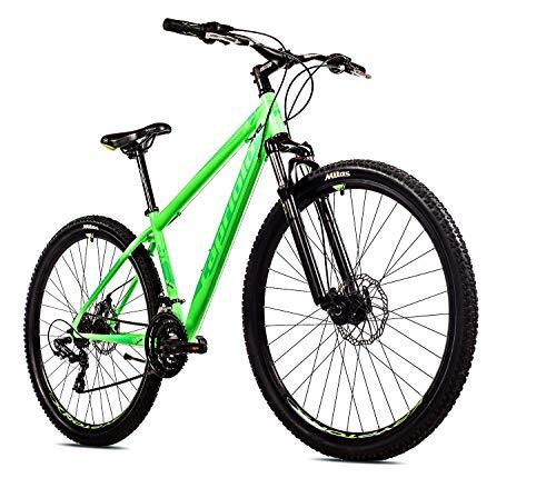 breluxx® 29 Zoll Mountainbike Hardtail FS Disk Level 9.X Sport neon-grün, 21 Gang Shimano, FS + Scheibenbremsen - Modell 2020