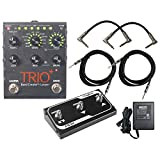 Digitech Trio+ Band Creator + Looper w/ FS3X Footswitch, 4 Cables, and Power Supply
