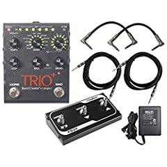 guitar looper DigiTech Trio+ Band Creator and Looper Pedal Band Creator Effects Pedal with Automatic Bass and Drum Parts, 12 Genres, 12 Styles, Variable Tempo, Individual Volume Controls, Effects Loop, Looper, SD Card Expansion, 5-part Loop Sequencer...
