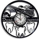Regalo Higiene dental Disco de vinilo Reloj de pared retro Cumpleaños Año nuevo Navidad Regalo de cumpleaños Personalidad Diseño creativo del hogar Decoración de la pared Decoración de la oficina del
