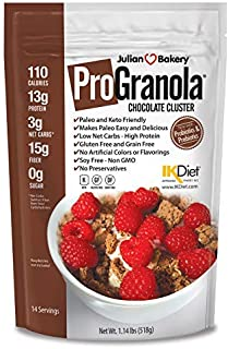 Julian Bakery® ProGranola® Cereal | Chocolate | 13g Protein | Paleo | 3 Net Carbs | Gluten-Free | Grain-Free | 14 Servings
