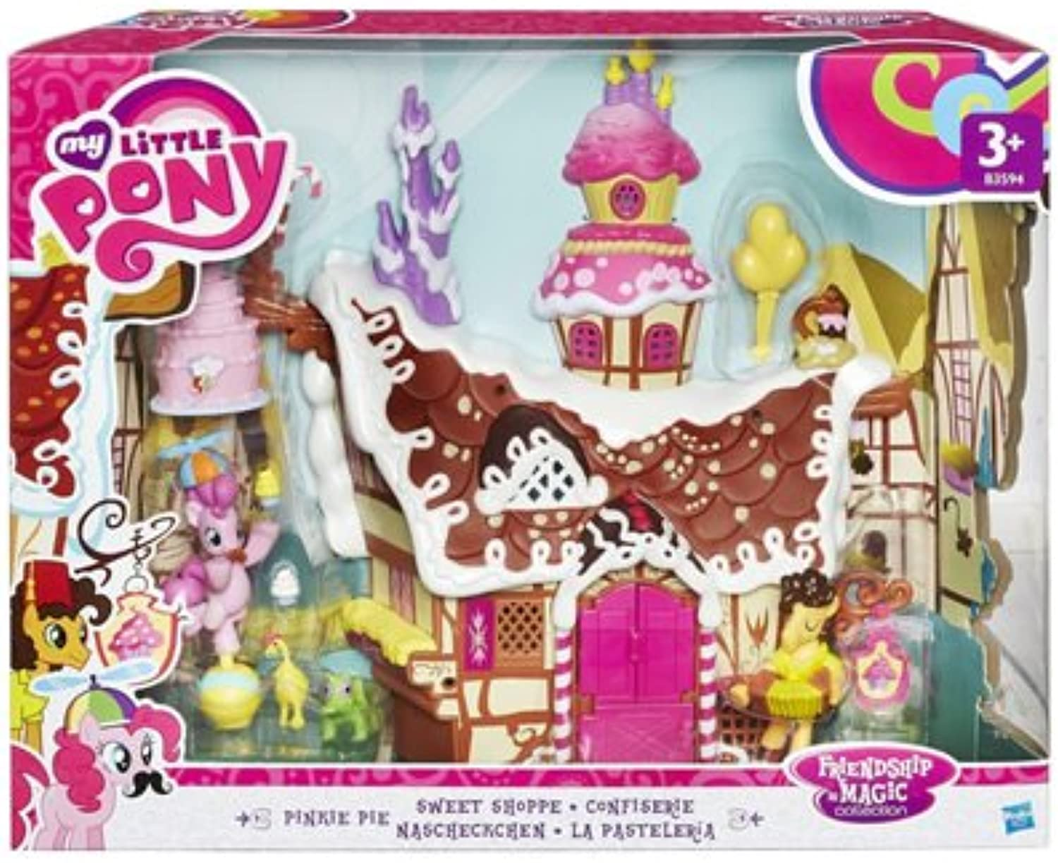 MY LITTLE PONY Friendship Is Magic Collection Pinkie Pie Sweet Shoppe Playset (Multi-Colour) by Hasbro