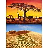 GREAT ART 2er Set XXL Poster – Afrikanische Landschaften