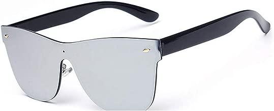 GAMT Rimless Sunglasses Futuristic Shield Mirrored Design