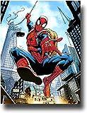SSKJTC Tableau mural pour décoration de salon, maison, sac à dos Spiderman Hero Impact Poster Art mural Impression sur toile 61 x 36 cm