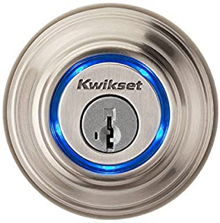 Kwikset Kevo (1st Gen) Touch-to-Open Bluetooth Smart Lock in Satin Nickel