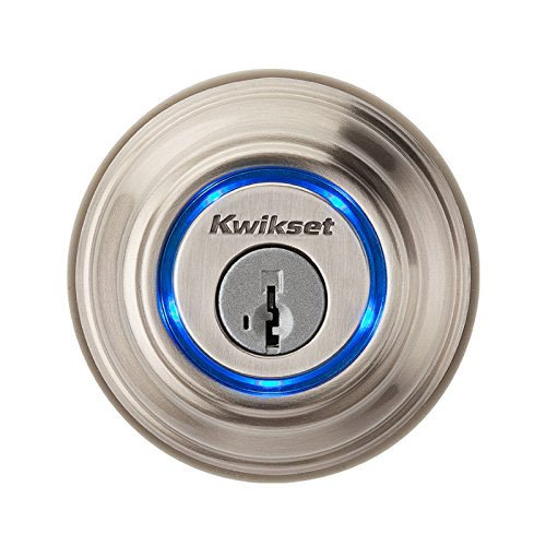 Kwikset Kevo Smart Lock with Keyless Bluetooth Touch to Open Convenience in Satin Nickel