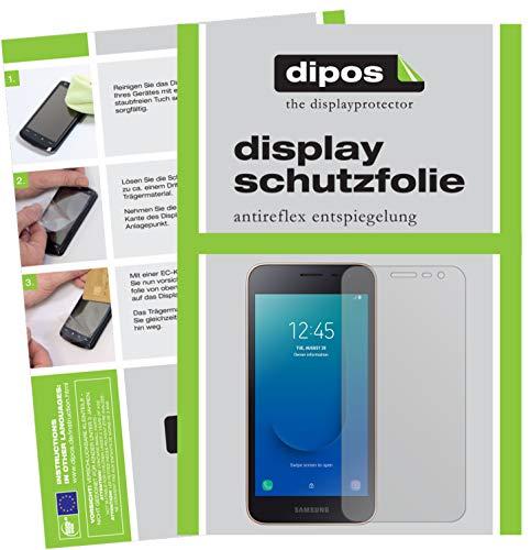 dipos I 2X Schutzfolie matt kompatibel mit Samsung Galaxy J2 Core (2018) Folie Bildschirmschutzfolie