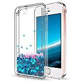 Mosoris Coque iPhone 5S Glitter Liquide Cover Mode 3D TPU Etui iPhone Se Etui Coque...