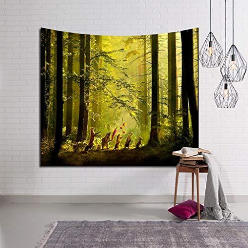 Higlles Tapisserie Dschungel Kreis Fantasy Malerei Tapestry Wandteppich Psychedelic Wand Dekoration Home Decor Beach Blanket
