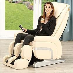 aktivshop Massagesessel Relax Premium Sessel Fernsehsessel Massage Entspannungssessel (Creme)