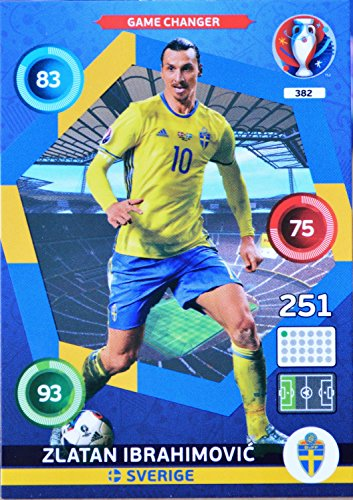 carte PANINI EURO 2016 #382 Zlatan Ibrahimovic