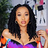 Toyotress Butterfly Locs Crochet Hair - 12 inch 8 Pcs Pre-twisted Distressed Crochet Braids Pre-looped Synthetic Braiding Hair Extensions (12 Inch,1)