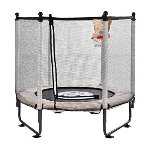 Dsrgwe Kids Trampoline 47inch Baby Indoor Trampolines with Net Safety Enclosure Gymnastics Equipment for Home Exercise Mini Rebounder Backyard