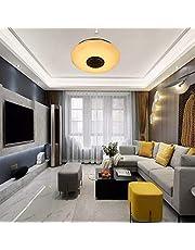 TTAototech LED Plafondlamp, 36W Dimbare Moderne Muziek Semi Flush Mount Armatuur met Bluetooth Speaker, Mobiele Telefoon APP, RGB Kleurverandering Warm/Koel Wit Temperatuur