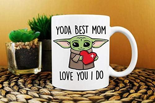 Best Mom Ever Y o d a Best Mom Love You I Do Coffee Mug Mom Birthday Gift Funny Mom Mug Both product image