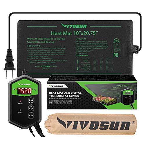 VIVOSUN 10quotx2075quot Seedling Heat Mat and Digital Thermostat Combo Set MET Standard