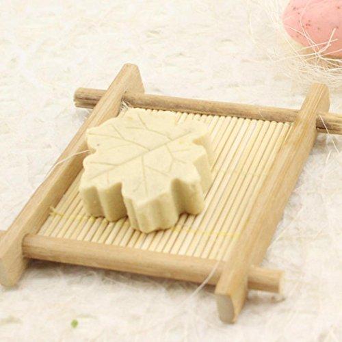 Sensail Porte-savon en Naturel bambou pour salle de bain plats de savon