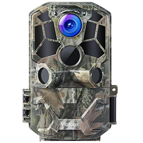 Victure WiFi Trail Game Camera 30MP 1296P with Night Vision Motion Activated IP66 Waterproof and 120° Detection Angel for Hunting Games, Wildlife...