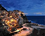 HAO Pintura al óleo de Bricolaje por números Pintura por número para decoración del hogar Lienzo Pintura la Noche 40x50cm Sin Marco