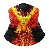 SARA NELL Burning Phoenix Neck Gaiter Face Mask, Sun Guard, Balclava With Sun Protection For Dust, Outdoors, Sun, Sports, Military