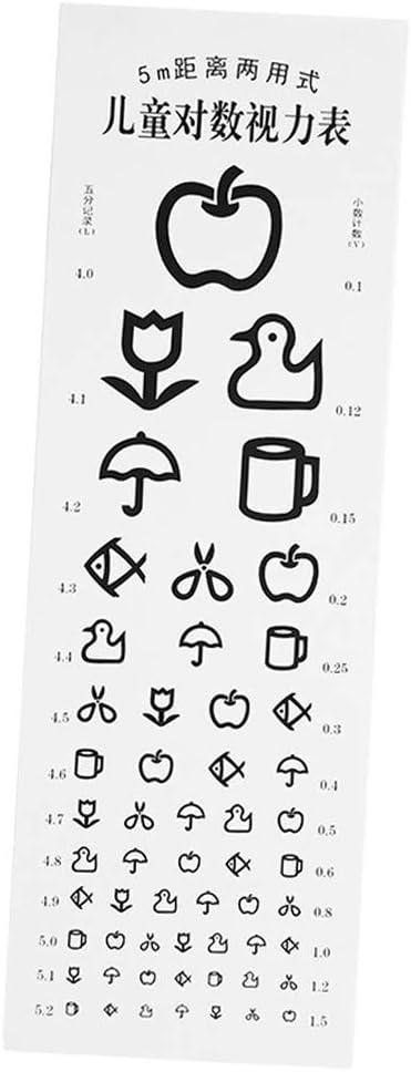 menolana Luxury goods Kids Eye Chart SALENEW very popular! for Visual Testing Non-Reflective
