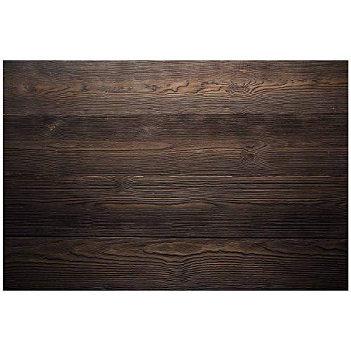 Küchen-Rückwand Spritzschutz I Dekor Holz dunkel I 60 x 40 x 0.3 cm I modern rustikal I Fliesenschutz für den Herd und Spüle | Küche Zubehör | Arbeitsplatte I Fliesenspiegel I Aluverbund I dv_795