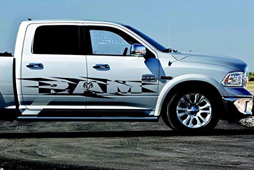ZYFAOZHOU 2 STÜCKE Dodge RAM HEMI 1500 2500 3500 Decals Racing Grafiken Vinyl große Aufkleber Logo