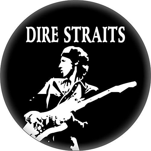 Dire Straits - Mark Knoffler & Logo (Black & White) - 1.25' Round Button