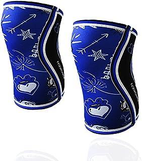 RODILLERAS BLUE DRAW (2 unds) - 5mm Knee Sleeves - Halterofilia, deporte funcional, CrossFit, Levantamiento de Pesas, Runn...