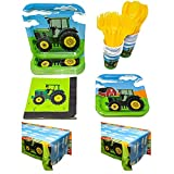 Tractor Deluxe Party Supplies Packs (110+ Pieces for 16 Guests!), Tractor Party Supplies, Farm Party Supplies