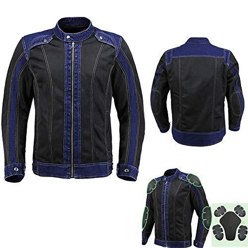 LSSLA Motorfiets Denim Jas Cowboy Racing Suit, Airbag Vest Ademende Drop Jacket Heren Motorfiets Pak voor Zomer Gebruik