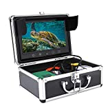 HD Cámara submarina, 9 pulgadas 1000TVL Monitor de pesca en color con cable de 50 metros, Luces LED IR,IP68 Impermeable (UE)