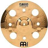 Meinl 12' Trash Splash Cymbal with Holes - Classics Custom Brilliant - Made In Germany, 2-YEAR WARRANTY (CC12TRS-B)