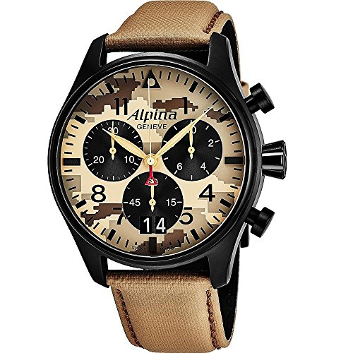Alpina Geneve CAMOUFLAGE PILOT BIG DATE CHRONOGRAPH AL-372MLY4FBS6 Herrenchronograph Fliegeruhr