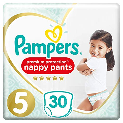 Couches-Culottes Pampers Taille 5 (11-18 kg) - Premium Protection Nappy Pants, 30 couches-Culottes - Pack Géant
