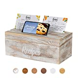 Pinelive 700+ Large Recipe Box with Cards and Dividers PLUS Phone/iPad Holder. 152 Index R...