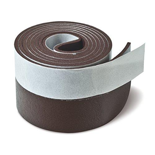 Brinox B82220M Burlete PVC expandido, Marrón, 38 nmm x 1 m