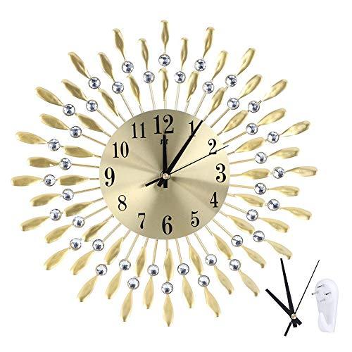 Reloj de pared moderno para el hogar Reloj de pared para sala de estar Reloj de hierro forjado Reloj de pared Reloj de cuarzo electrónico Reloj de decoración de la oficina en el hogar Fácil de leer