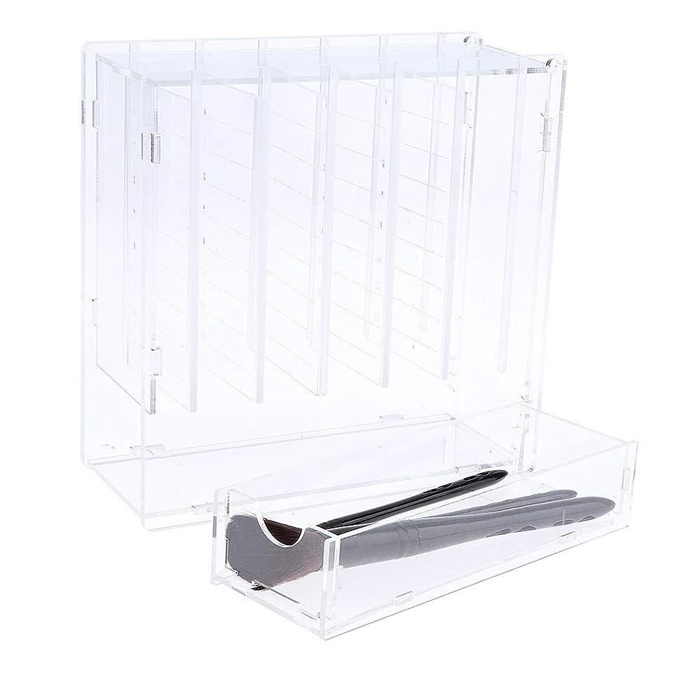 含む排泄物F Fityle まつげ収納ボックス 6層 つけまつげ 収納ケース まつげ グラビアオーガナイザー 接着パレット