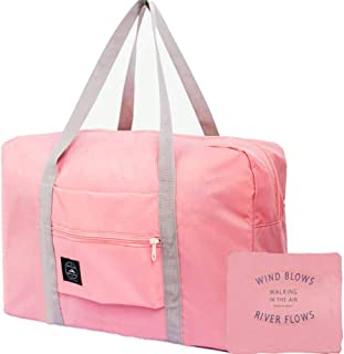 Unisex's Spirit Airline Personal Item Carry-on Bag Unisex's Lightweight Fodable Waterproof Duffel Travel Bag Luggage Bag Large Capacity  18''x 14'' x 8'' (Pink)