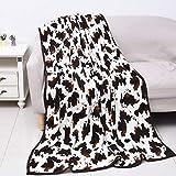 Shop LC Homesmart Cowprint Blanket Microfiber Throw Warm Cozy Fleece Animal Print Comforter Living Room Bedroom Sofa Couch Lightweight Travel Blanket Gifts