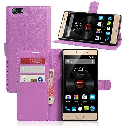Litao-Case CN Hülle für Elephone M2 hülle Flip Leder + TPU Silikon Fixierh Schutzhülle Case 2