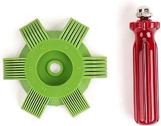 TAOHOU Bobina del evaporador del Condensador del radiador del Aire Acondicionado del Auto para la Herramienta del Sistema de enfriamiento automático Verde y Rojo